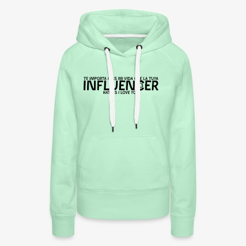 INFLUENCER (Black) - Sudadera con capucha premium para mujer