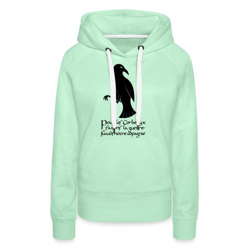 XK Corbeau Byzantin - Sweat-shirt à capuche Premium pour femmes