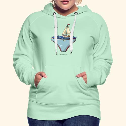Ta mer en slip - Sweat-shirt à capuche Premium pour femmes