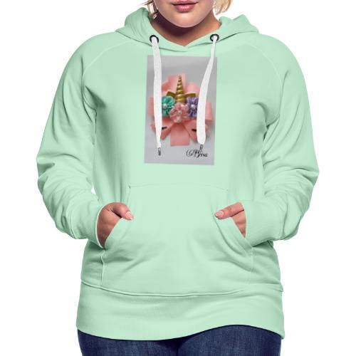 Moño de unicornio - Sudadera con capucha premium para mujer