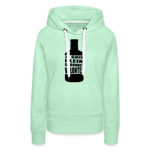 Bonnes volontés - Sweat-shirt à capuche Premium pour femmes