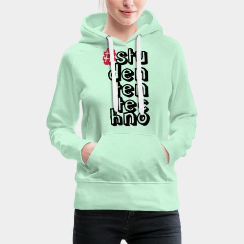 #studententechno (groß) - Frauen Premium Hoodie