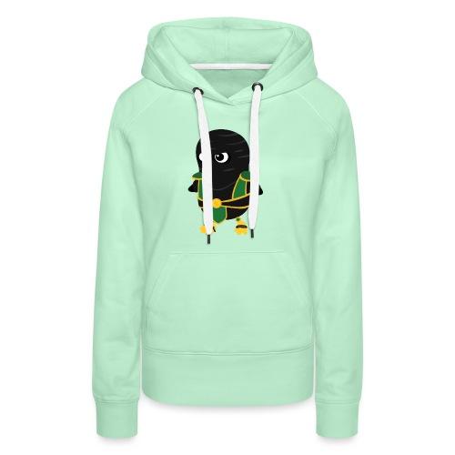 Pingouin reptile - Sweat-shirt à capuche Premium pour femmes