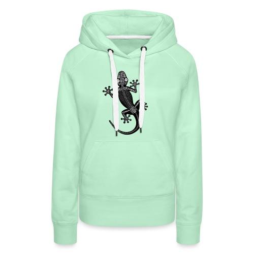 Gecko-Skelett - Dame Premium hættetrøje