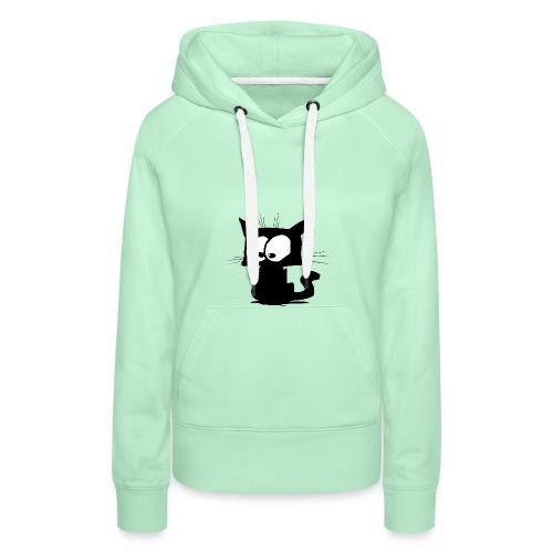 Black Cat 01 - Sweat-shirt à capuche Premium pour femmes
