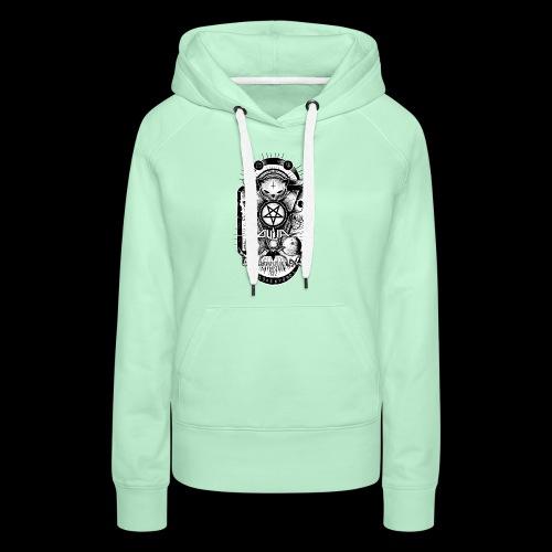 Logo Ouija complet - Sweat-shirt à capuche Premium pour femmes