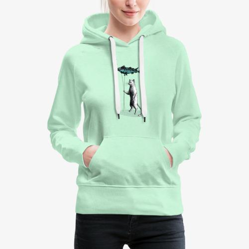 Cat Balloon - Women's Premium Hoodie