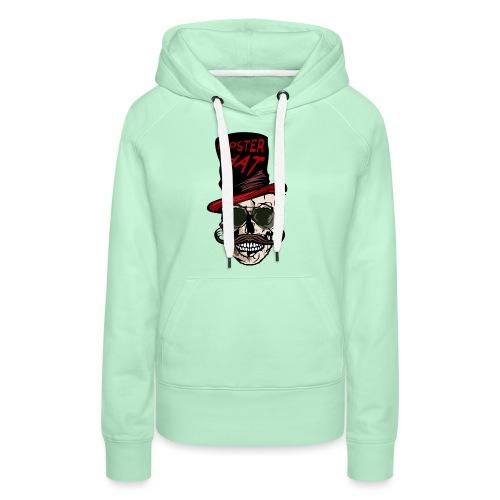 tete de mort hipster hat citation moustache crane - Sweat-shirt à capuche Premium pour femmes