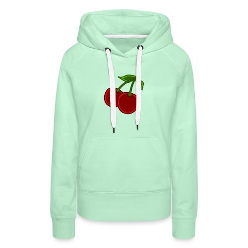 cherry - Bluza damska Premium z kapturem