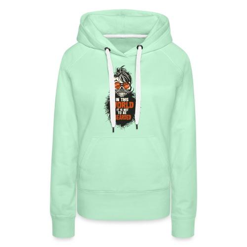 tete de mort citation hipster skull crane humour w - Sweat-shirt à capuche Premium pour femmes