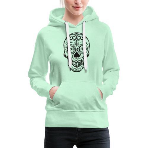 Skull black - Frauen Premium Hoodie