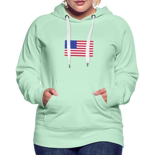 AVM 48 star flag in 3 color RGB VECTOR - Vrouwen Premium hoodie
