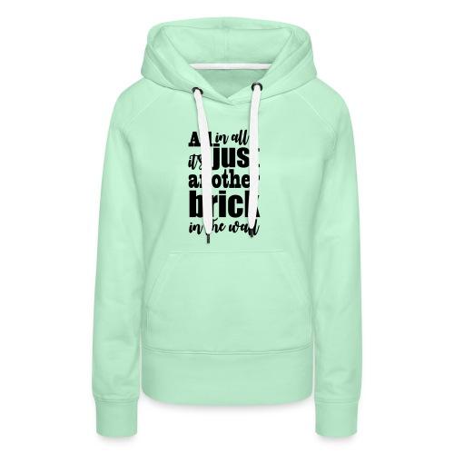 another brick vect - Sweat-shirt à capuche Premium pour femmes