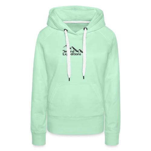 Beyond Expedition Black Logo - Sweat-shirt à capuche Premium pour femmes