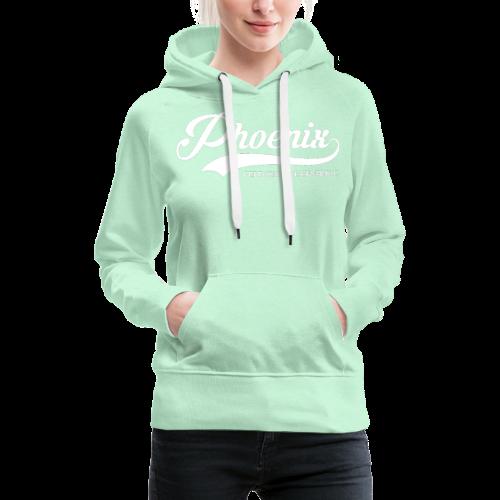 Phoenix Retro White - Frauen Premium Hoodie