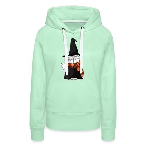Le chat sorcier - Sweat-shirt à capuche Premium pour femmes