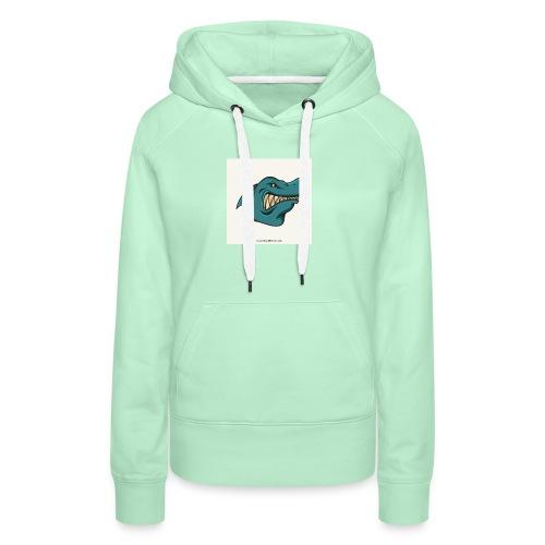 requin mascotte weelax - Sweat-shirt à capuche Premium pour femmes