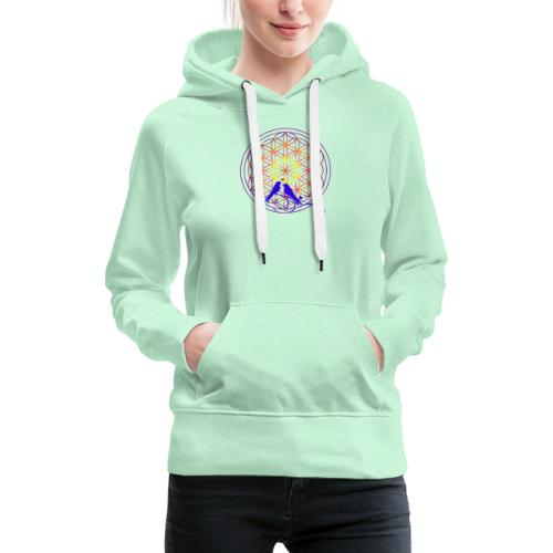 fleur de vie oiseau n°2 - Sweat-shirt à capuche Premium pour femmes