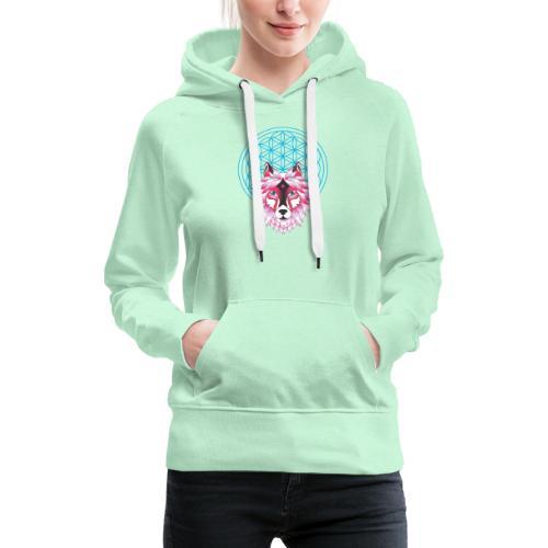 fleur de vie loup n°1 - Sweat-shirt à capuche Premium pour femmes