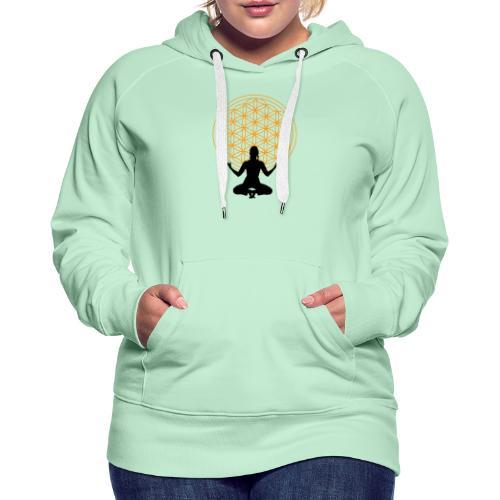 fleur de vie yoga 3 - Sweat-shirt à capuche Premium pour femmes