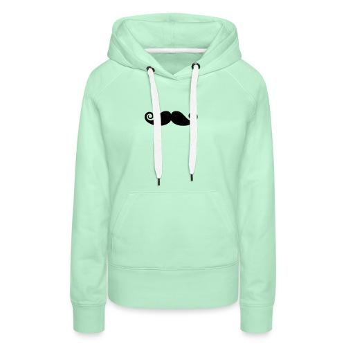 mustache - Vrouwen Premium hoodie