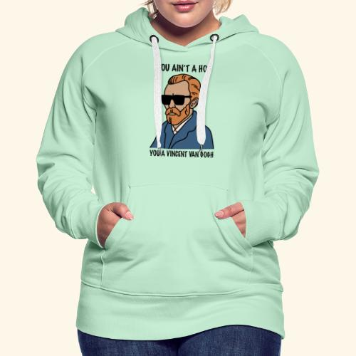 VAN GOGH - Sudadera con capucha premium para mujer