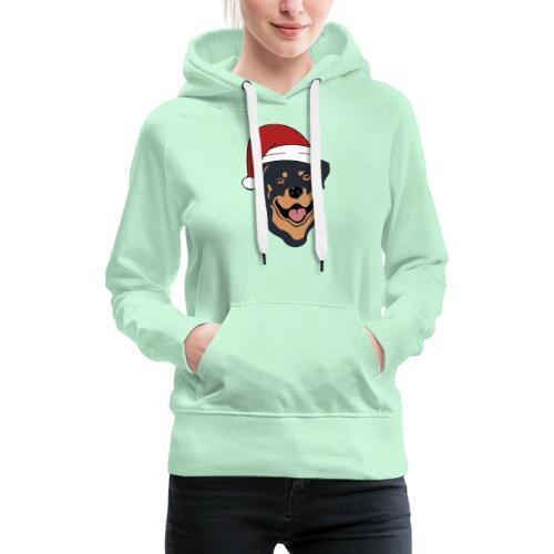 Weihnachtsmann Rottweiler - Frauen Premium Hoodie