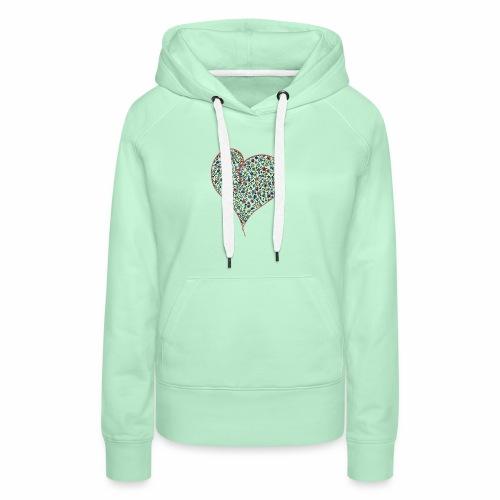 Heart - Bluza damska Premium z kapturem