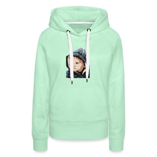 lolo capuche dessin - Sweat-shirt à capuche Premium pour femmes