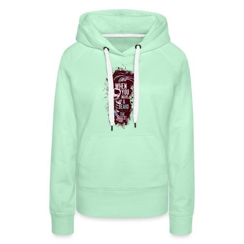 tete de mort crane hipster skull citation humour b - Sweat-shirt à capuche Premium pour femmes