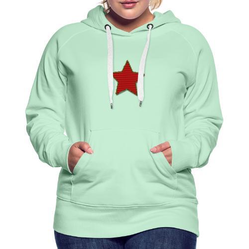 Stella di Natale rossa - Felpa con cappuccio premium da donna