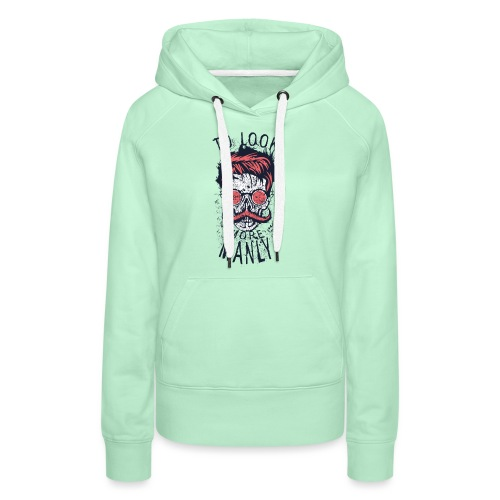 tete de mort crane hipster logo coiffure skull cit - Sweat-shirt à capuche Premium pour femmes