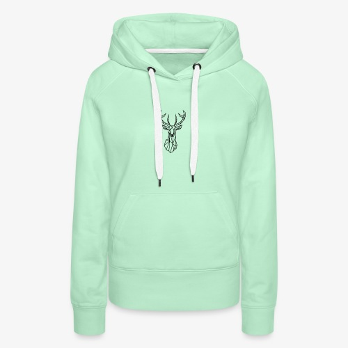 Ciervo geometrico - Sudadera con capucha premium para mujer