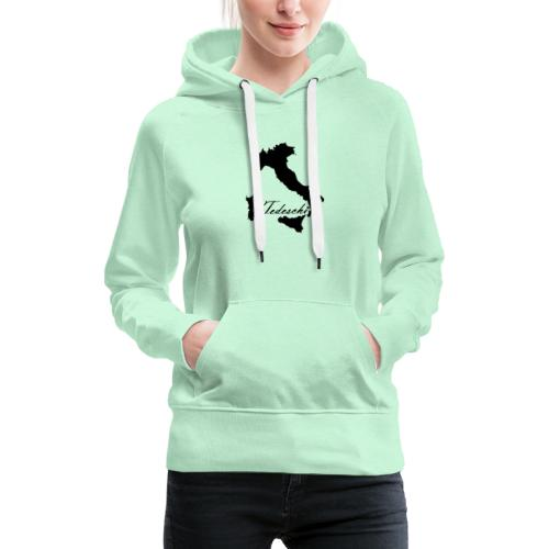 Tedeschi noir - Sweat-shirt à capuche Premium pour femmes