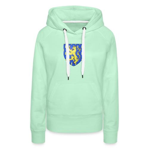 Blason de la Franche-Comté avec fond transparent - Sweat-shirt à capuche Premium pour femmes