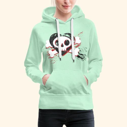 Crane coeur - Sweat-shirt à capuche Premium pour femmes