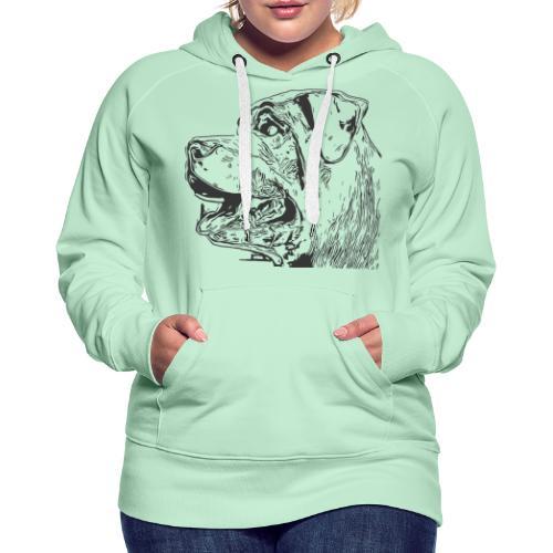 Rottweiler Mund offen schwarz - Frauen Premium Hoodie