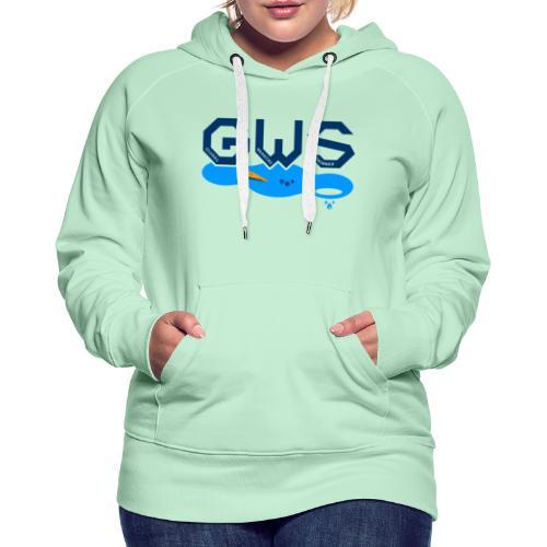 Global Warming Snowman - Sweat-shirt à capuche Premium pour femmes