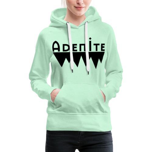Adenite - schwarzes langes Logo - Frauen Premium Hoodie