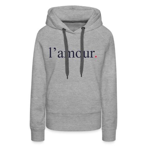 lamour - Sweat-shirt à capuche Premium pour femmes