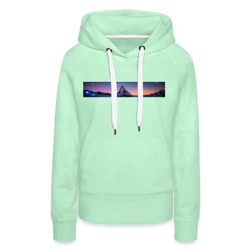 Mountain sky - Frauen Premium Hoodie