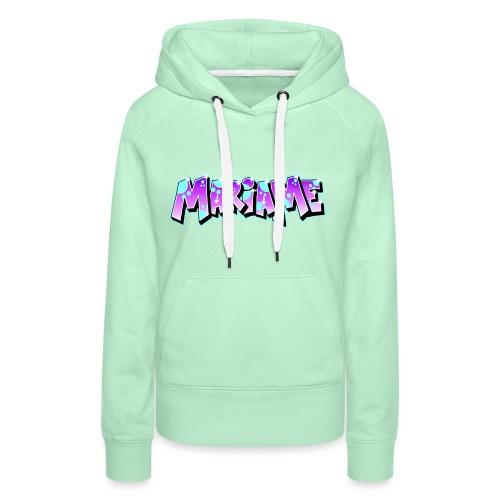 Graffiti Mariame printable - Sweat-shirt à capuche Premium pour femmes