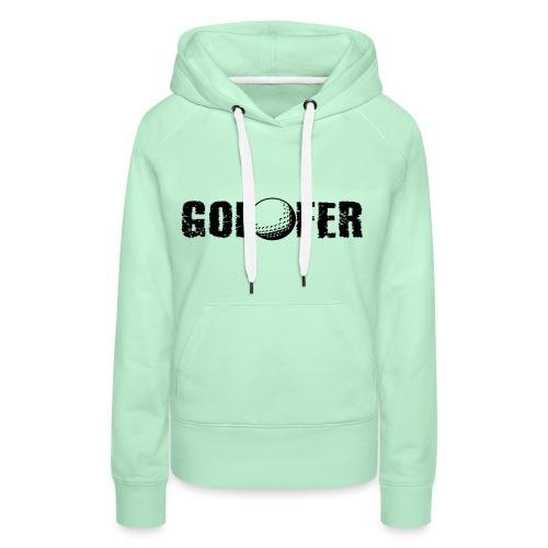 Golfer - Frauen Premium Hoodie
