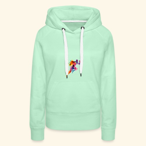 Running colores - Sudadera con capucha premium para mujer