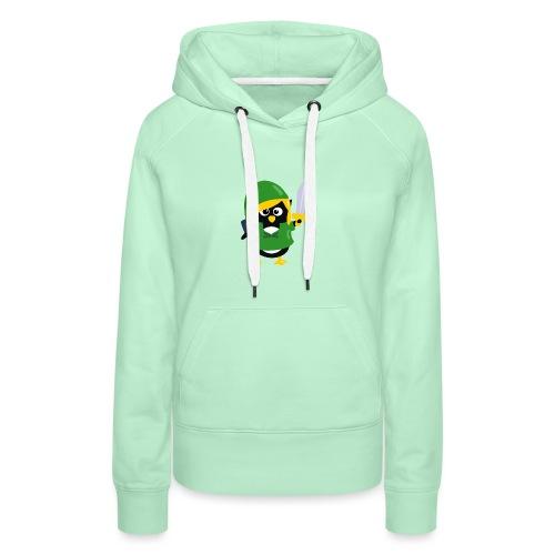Pingouin Link - Sweat-shirt à capuche Premium pour femmes
