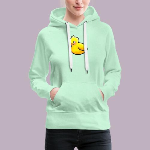 Un pato escurridizo - Sudadera con capucha premium para mujer