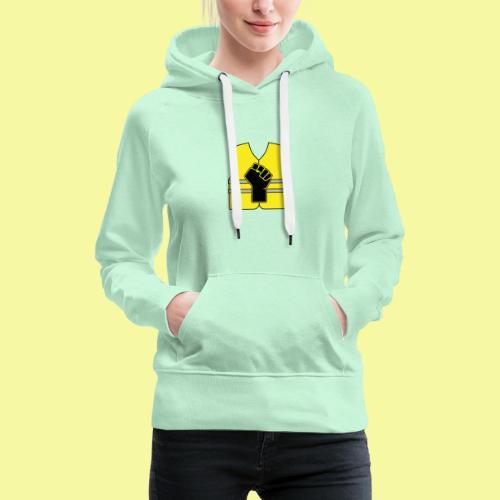 logo gilet poing - Sweat-shirt à capuche Premium pour femmes