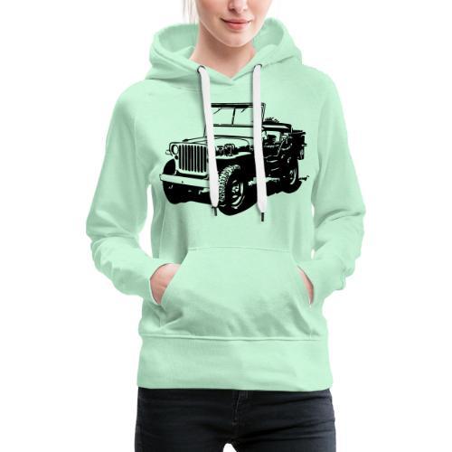 AVM Jeep 4x4 - VECTOR - MULTICOLOR DESIGN - Vrouwen Premium hoodie