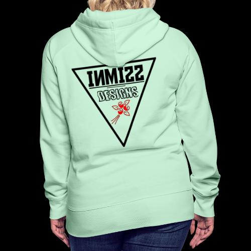 Triangle Red Rose Design - Women's Premium Hoodie