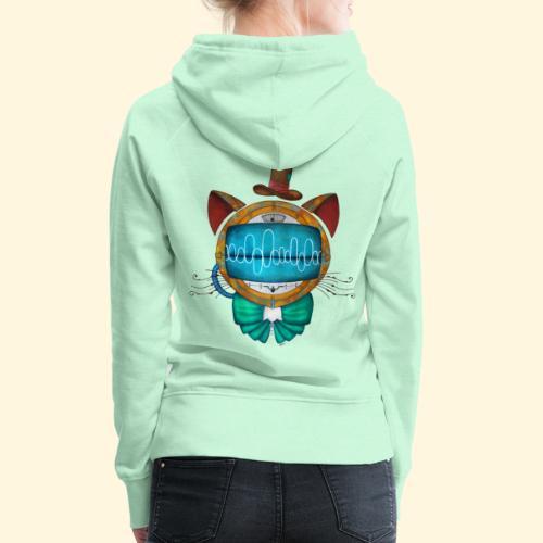 Shoupignon - Chat robot Steampunk - Sweat-shirt à capuche Premium pour femmes
